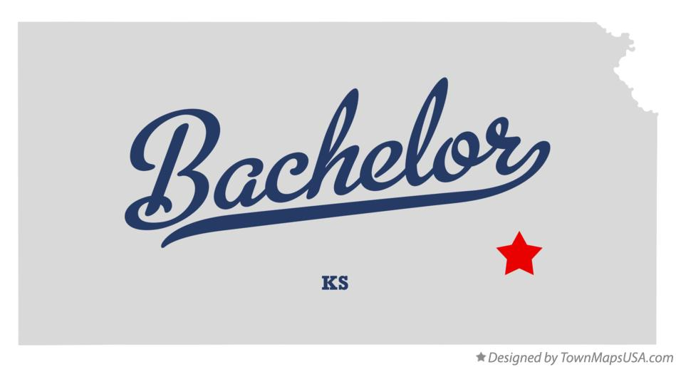Map of Bachelor Kansas KS