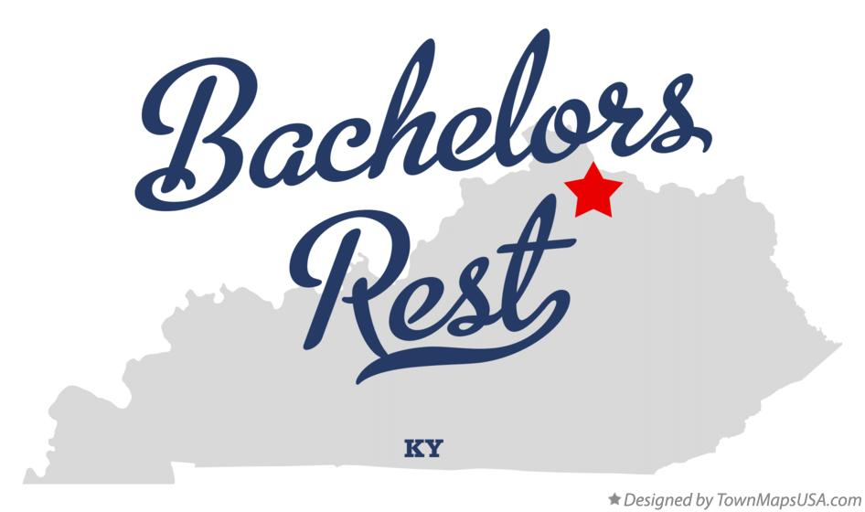 Map of Bachelors Rest Kentucky KY