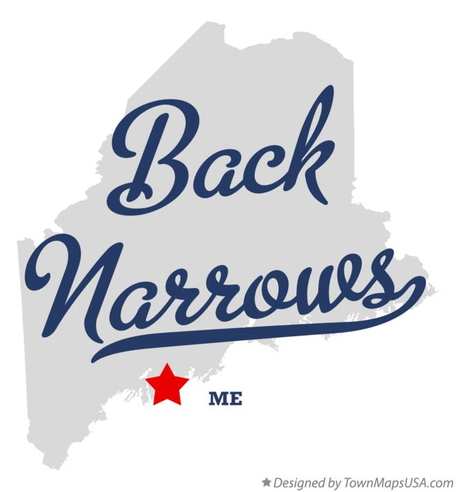 Map of Back Narrows Maine ME