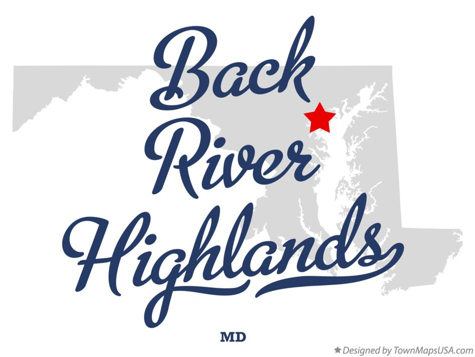 Map of Back River Highlands Maryland MD