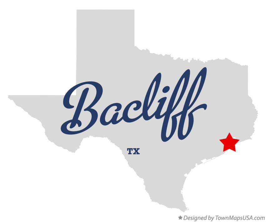 Map of Bacliff Texas TX