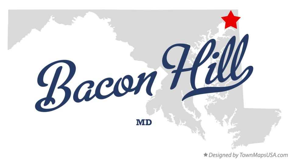 Map of Bacon Hill Maryland MD