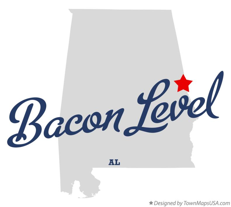 Map of Bacon Level Alabama AL