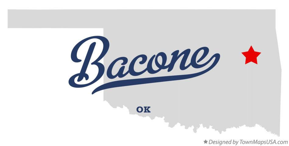 Map of Bacone Oklahoma OK