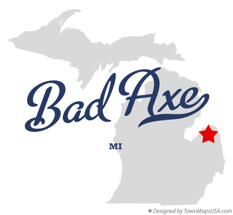 Map of Bad Axe Michigan MI