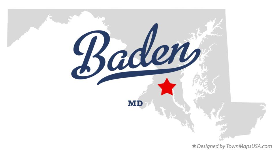 Map of Baden Maryland MD