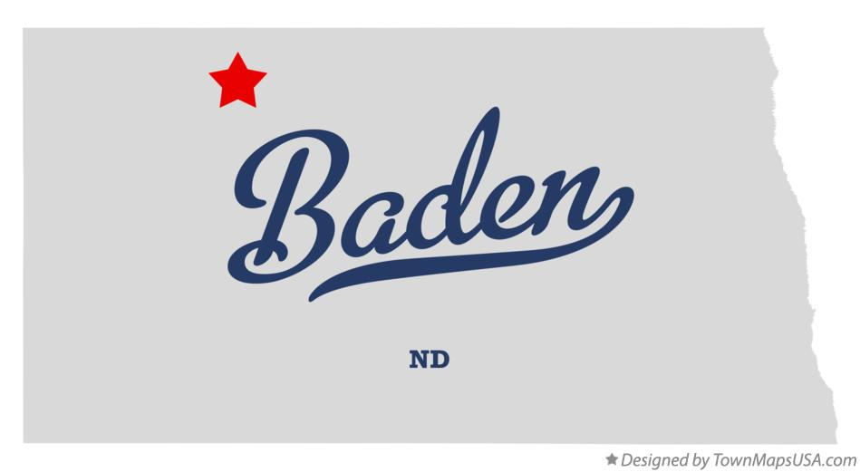 Map of Baden North Dakota ND
