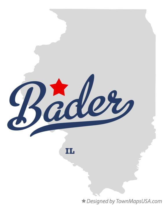 Map of Bader Illinois IL