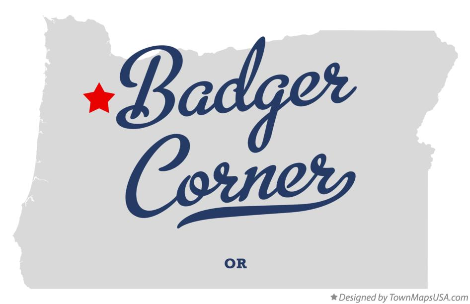 Map of Badger Corner Oregon OR