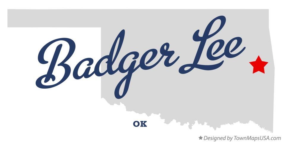 Map of Badger Lee Oklahoma OK