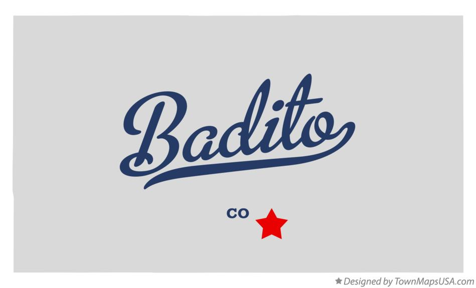 Map of Badito Colorado CO