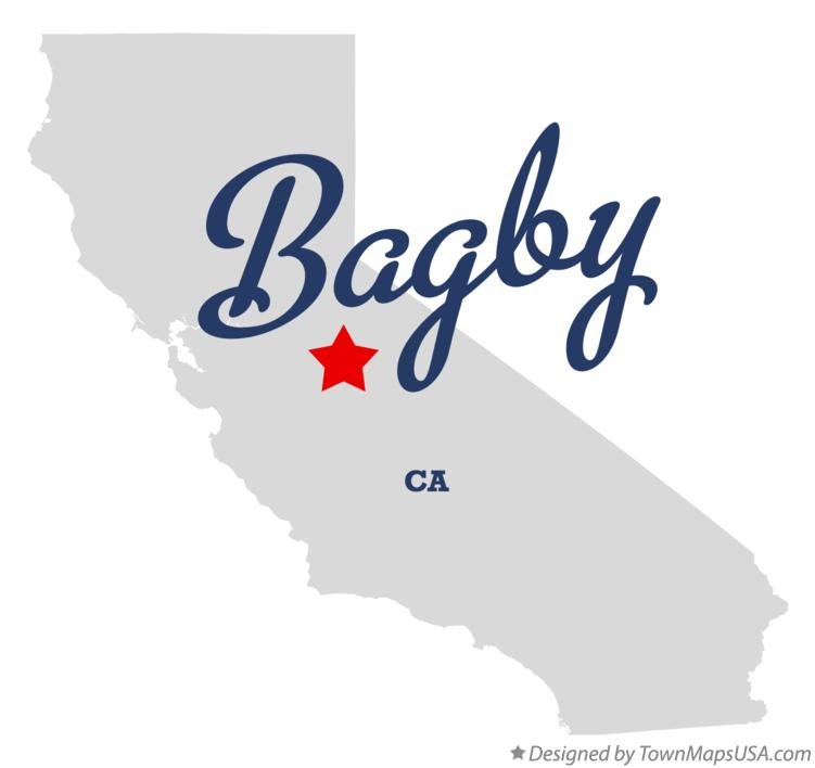 Map of Bagby California CA