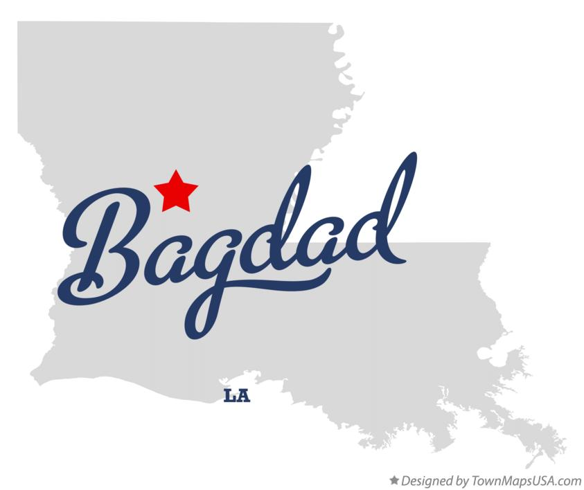 Map of Bagdad Louisiana LA