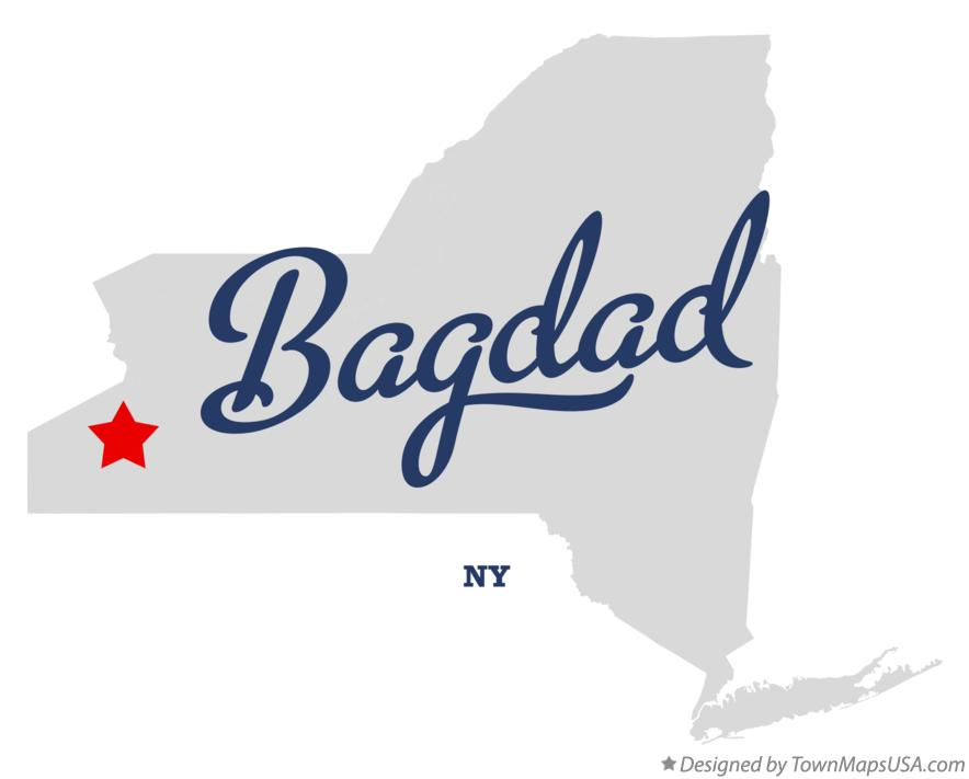 Map of Bagdad New York NY