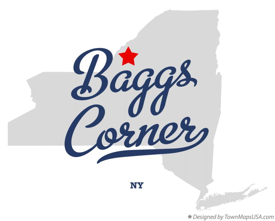 Map of Baggs Corner New York NY