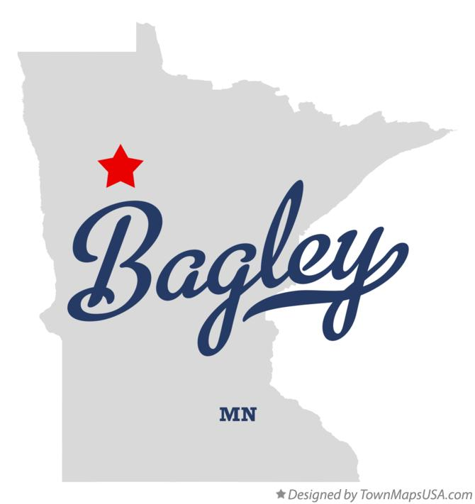 Map of Bagley Minnesota MN