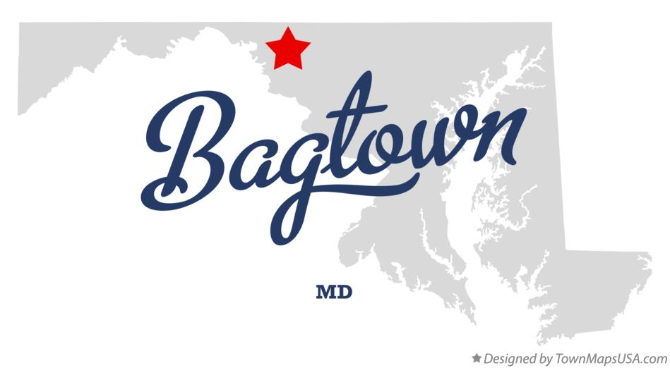 Map of Bagtown Maryland MD