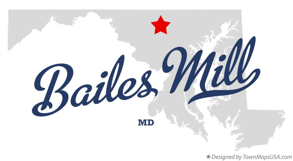 Map of Bailes Mill Maryland MD
