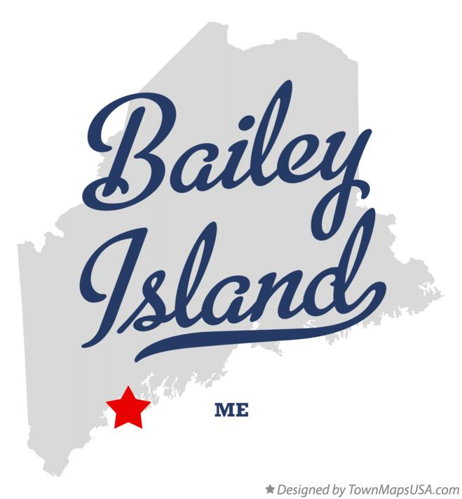 Map of Bailey Island Maine ME