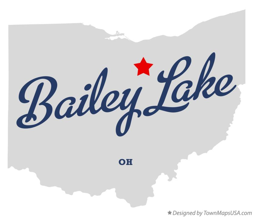 Map of Bailey Lake Ohio OH