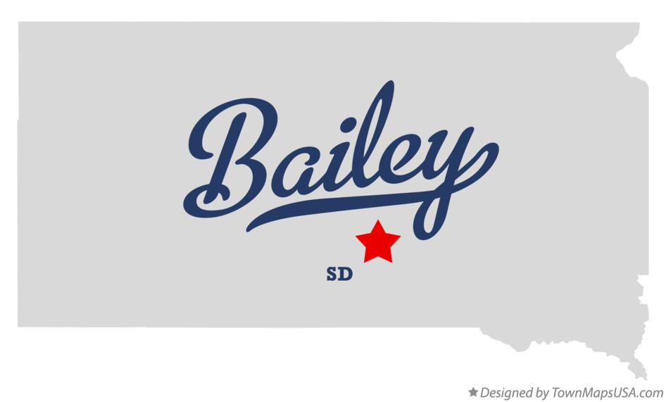Map of Bailey South Dakota SD