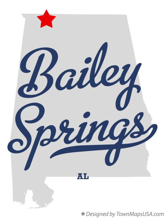 Map of Bailey Springs Alabama AL