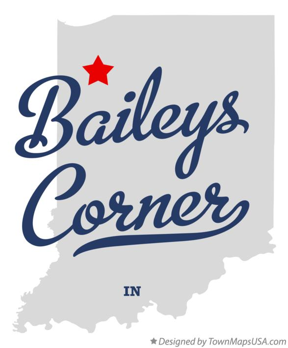 Map of Baileys Corner Indiana IN