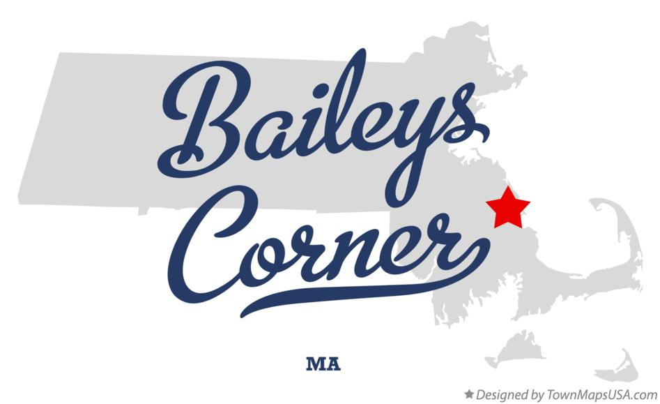 Map of Baileys Corner Massachusetts MA