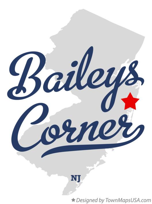 Map of Baileys Corner New Jersey NJ