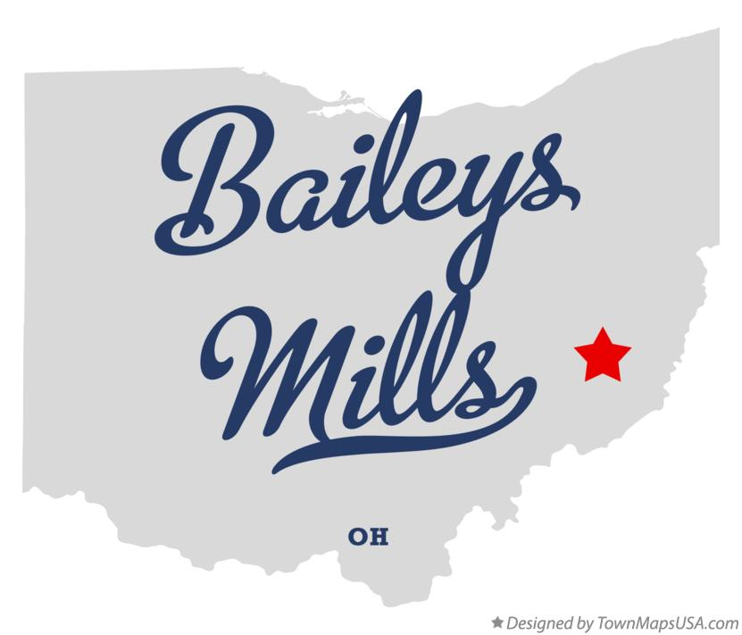 Map of Baileys Mills Ohio OH