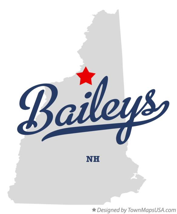 Map of Baileys New Hampshire NH