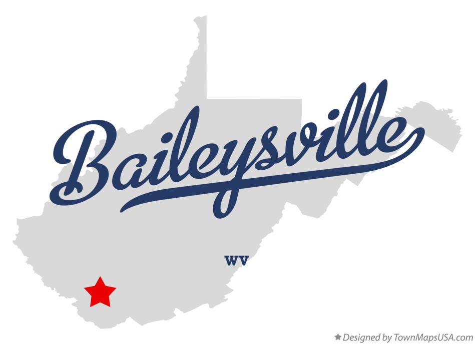 Map of Baileysville West Virginia WV