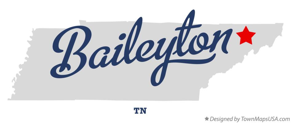 Map of Baileyton Tennessee TN