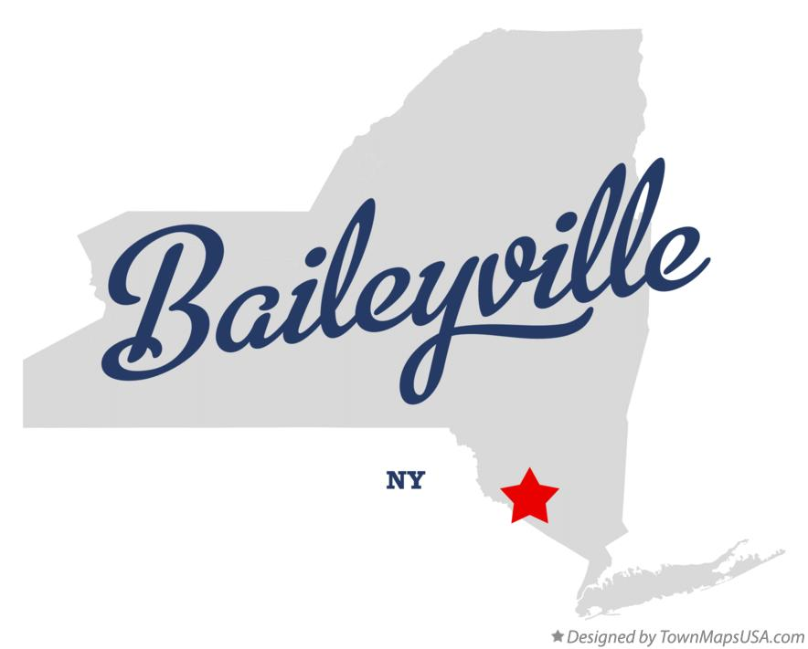 Map of Baileyville New York NY