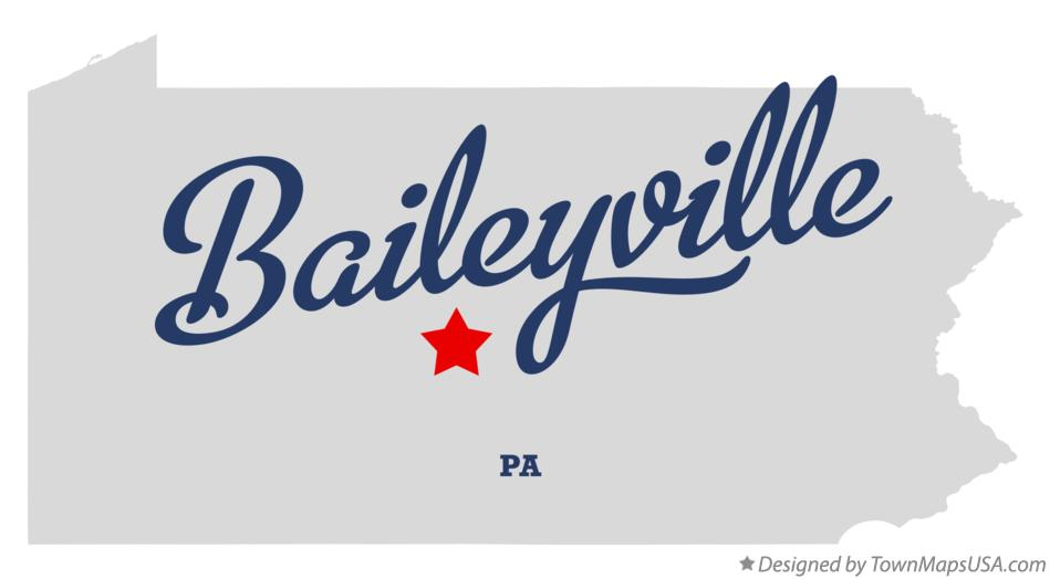 Map of Baileyville Pennsylvania PA