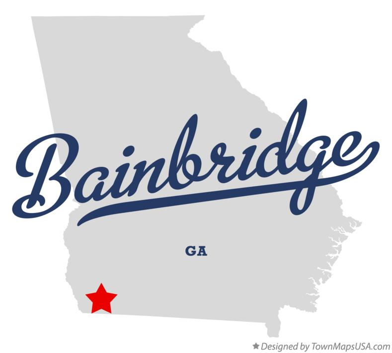 Map of Bainbridge Georgia GA