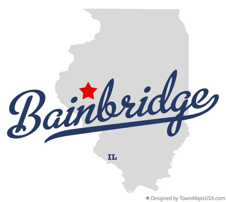 Map of Bainbridge Illinois IL