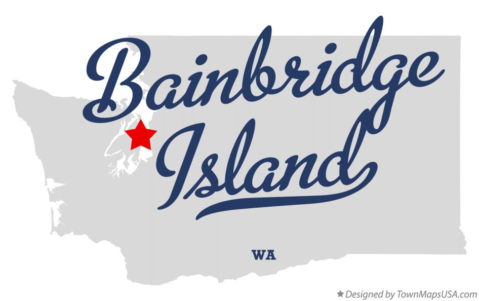 Map of Bainbridge Island Washington WA