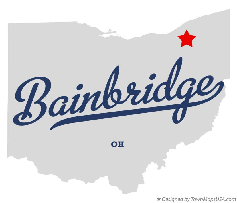 Map of Bainbridge Ohio OH