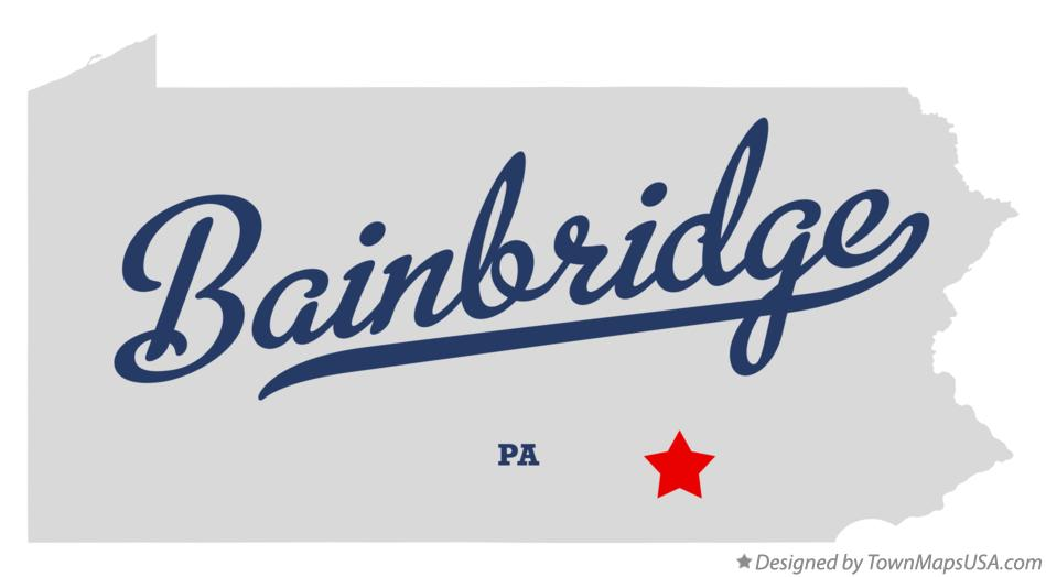 Map of Bainbridge Pennsylvania PA