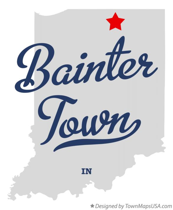 Map of Bainter Town Indiana IN
