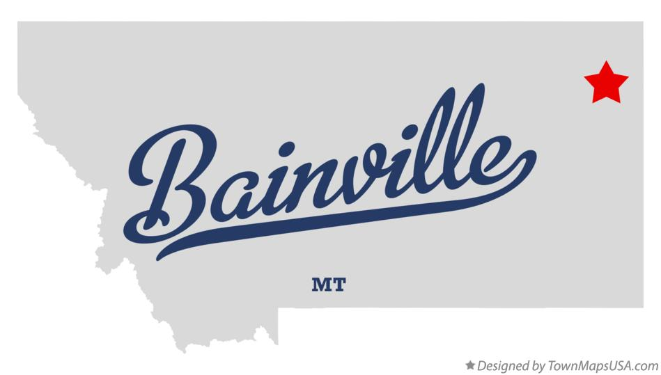 Map of Bainville Montana MT
