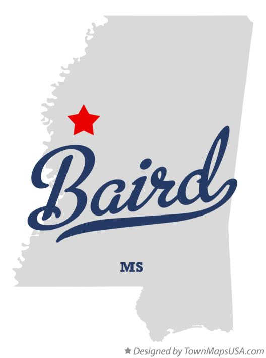 Map of Baird Mississippi MS