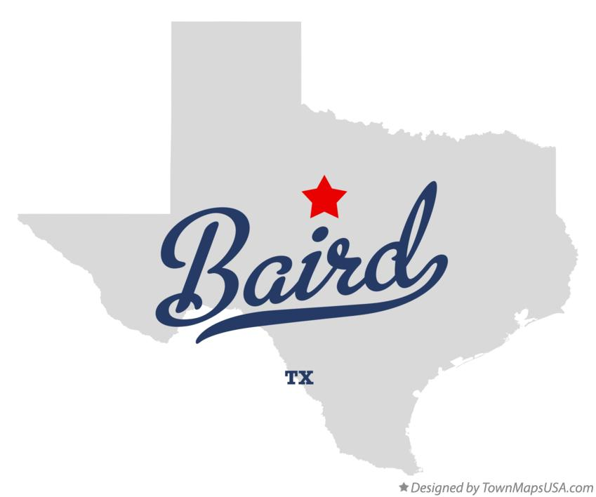 Map of Baird Texas TX