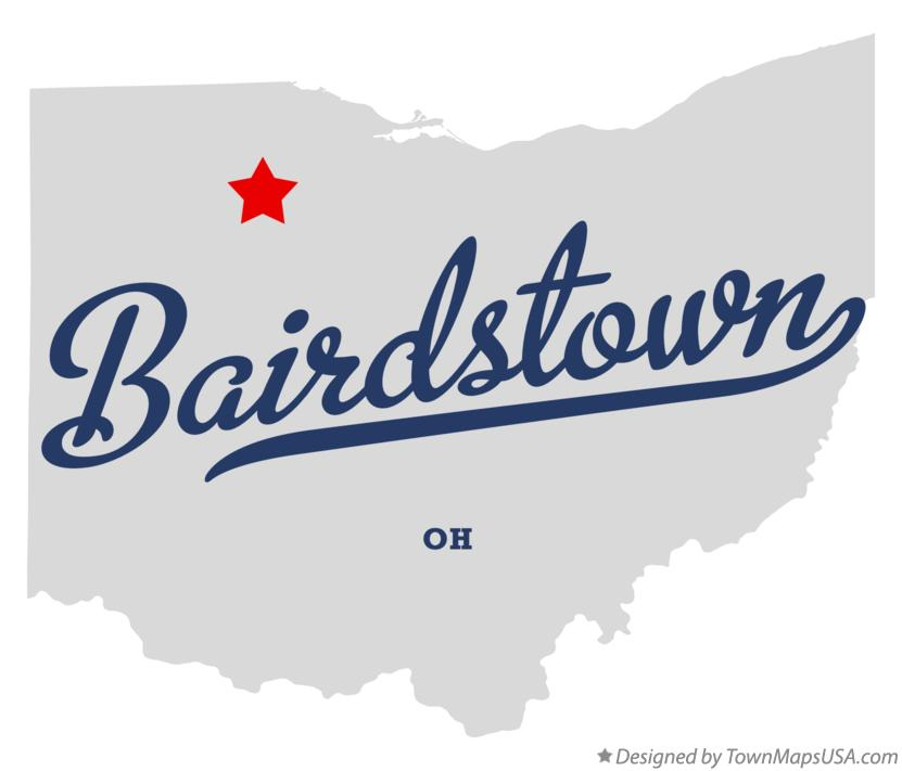 Map of Bairdstown Ohio OH