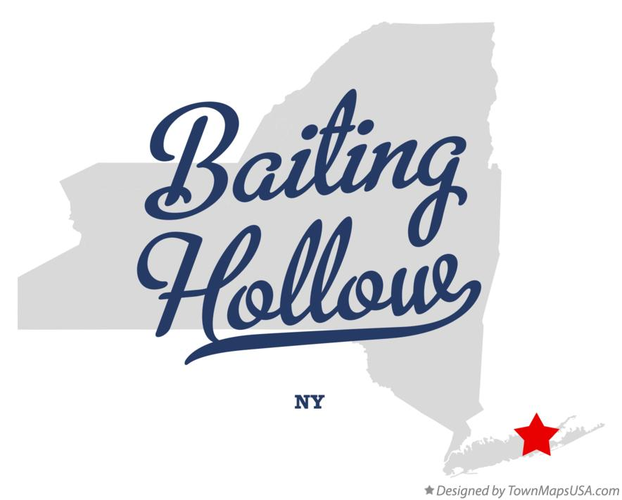 Map of Baiting Hollow New York NY