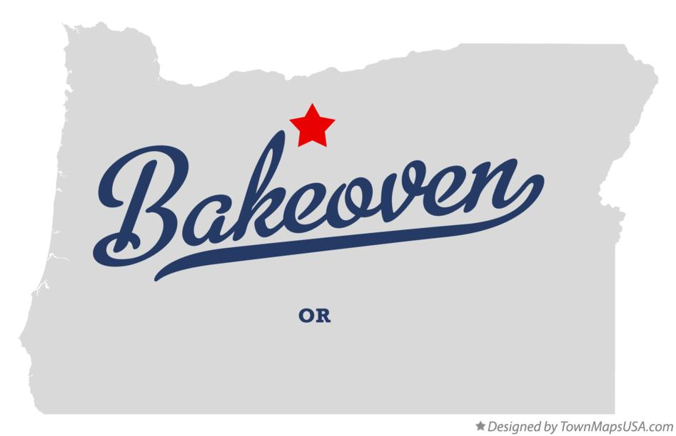 Map of Bakeoven Oregon OR