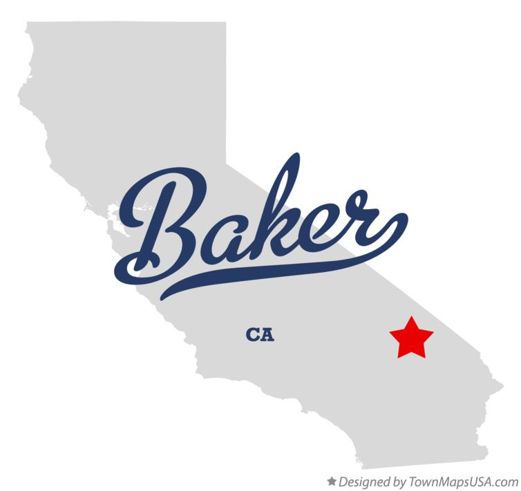 Map of Baker California CA