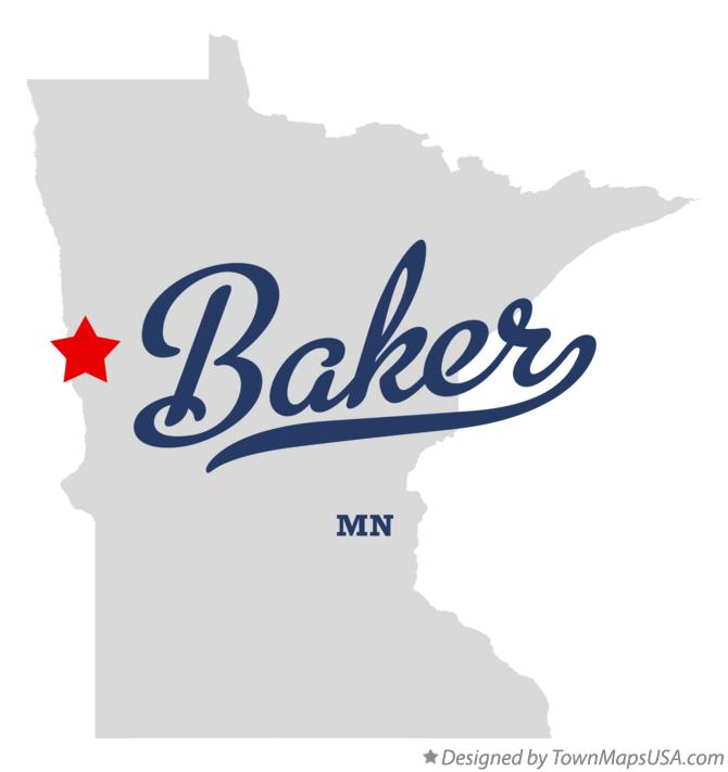 Map of Baker Minnesota MN
