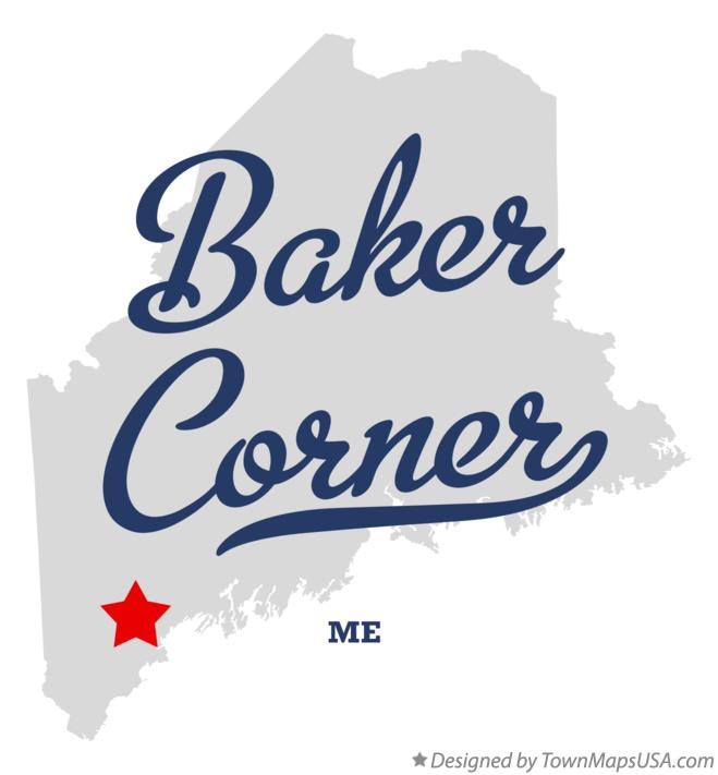 Map of Baker Corner Maine ME